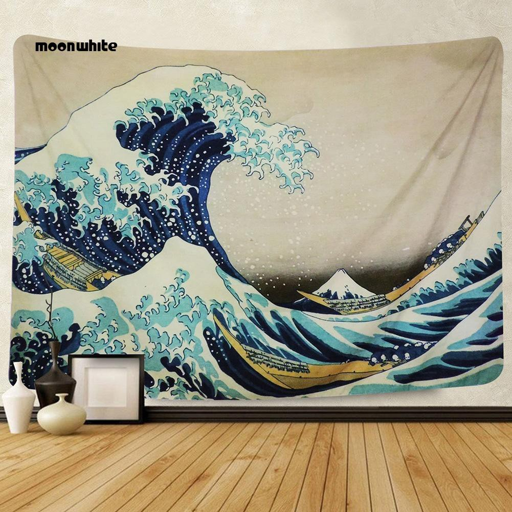 Permadani Gantung Dinding Motif Ombak Laut Untuk Dekorasi Rumah