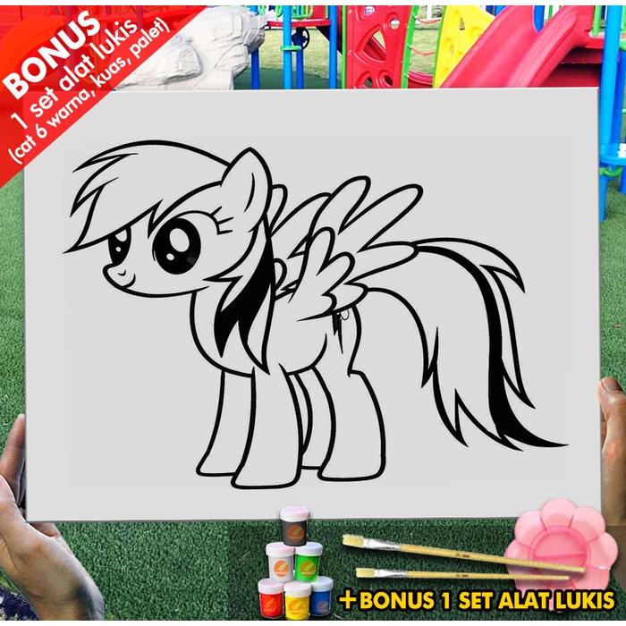 Kanvas Lukis Anak Pony Mainan 30x40 Cm Mel1178 Mewarnai Coloring Shopee Indonesia