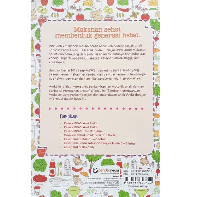 Buku 101 Menu Mpasi Sehat Generasi Hebat Dr Zulfito Dan Ayu Shopee Indonesia