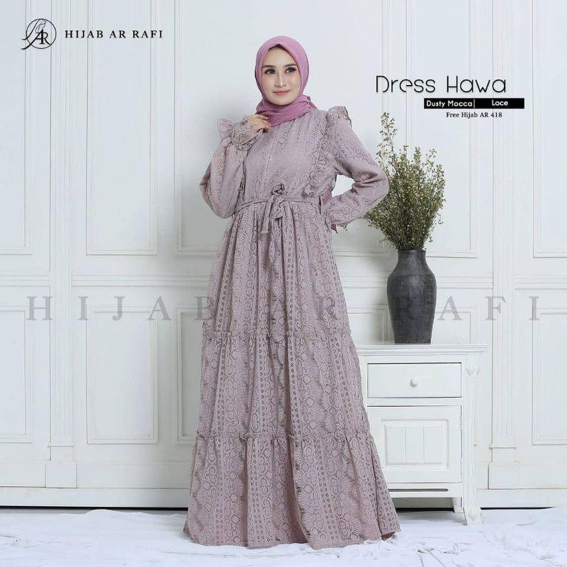 Gamis Muslim Dress Hawa Ar Rafi Shopee Indonesia