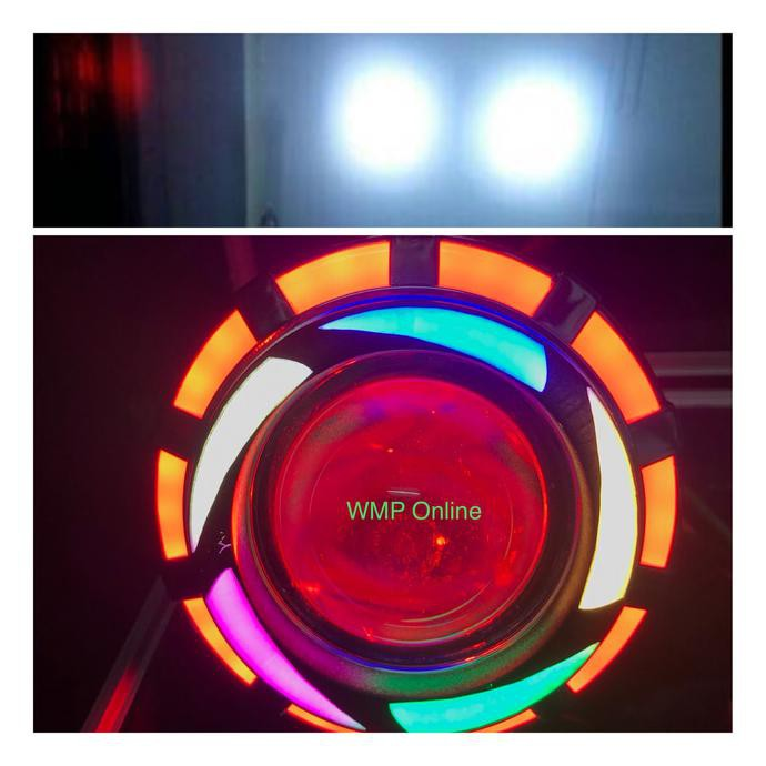 Lampu Projie U26R Rainbow 2 Sinar 3.5 Inch Angel Bulat Runing WMP-0986 | Shopee Indonesia
