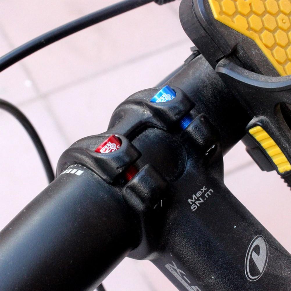 4Pcs 7075 Aluminum Alloy M5*17MM Handle Riser Screws Bicycle Handlebar Screws
