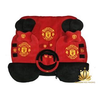 Car Set / Sarung Jok MU Mobil 24 in 1 Bantal Mobil 24in1 Manchester United / MU (3 Baris)