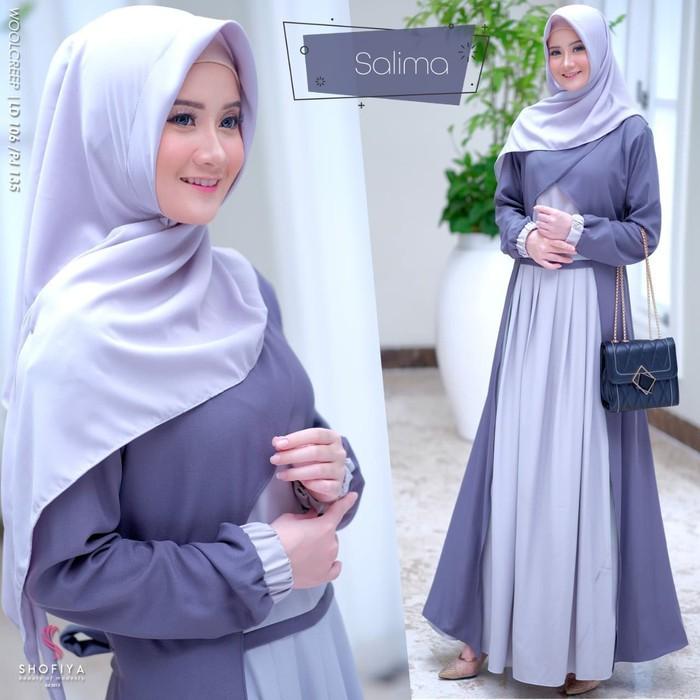 Model Baju Gamis Polos Terbaru 2020 Hijabfest