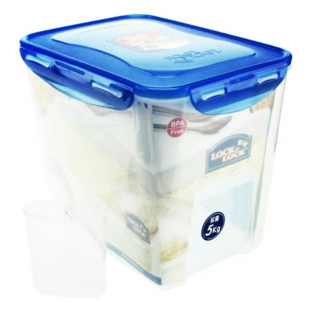Lock&lock Lunch Box Set with Spoon and Fork - HPL752DB   Shopee Indonesia