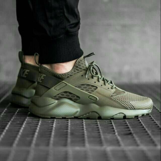 Sepatu Nike Air Huarache Run Ultra Medium Olive Premium
