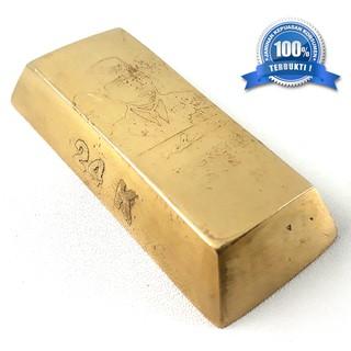 Emas Batangan Soekarno 1818 24k Bahan Kuningan Lempengan Gold