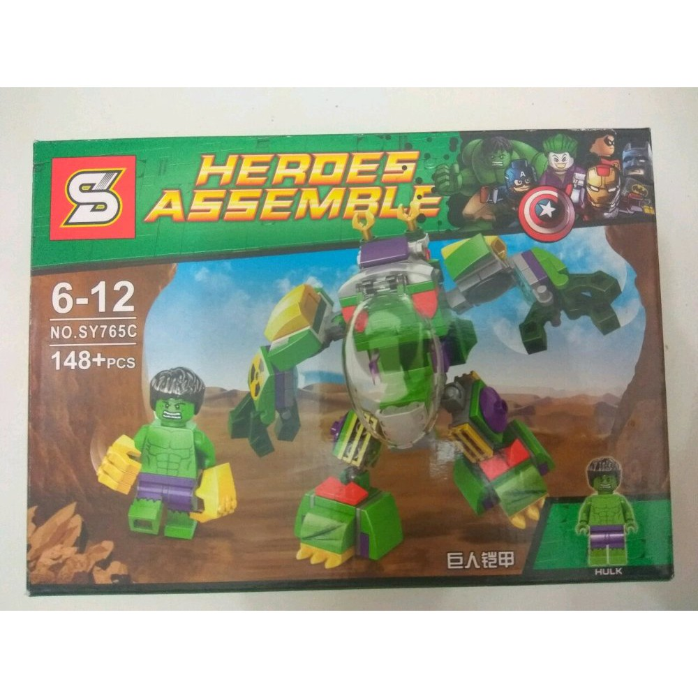 New Product Lego Hulk Minifigure Heroes Assemble Merk Sy Berkualitas