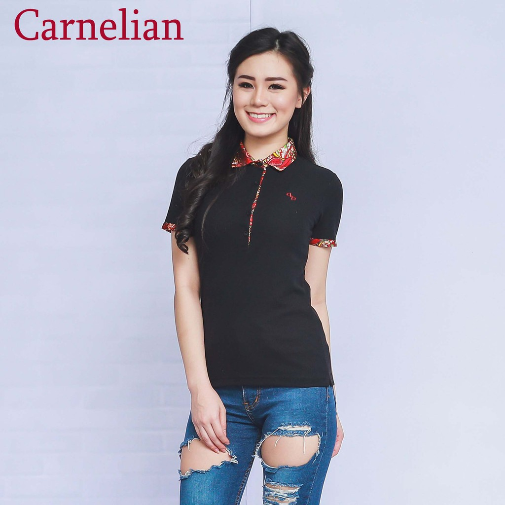 Dapatkan Harga Polo Shirt Pakaian Wanita Diskon Shopee Indonesia Elfs Poloshirt Lakos Katun Biru Tua