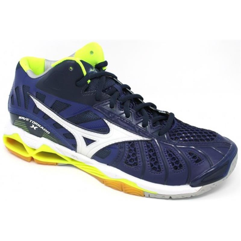 BIG PROMO Sepatu Volly Voli Mizuno V1GA161771 Wave Tornado X Mid Blue  Depths Whi  dd8ca893b9