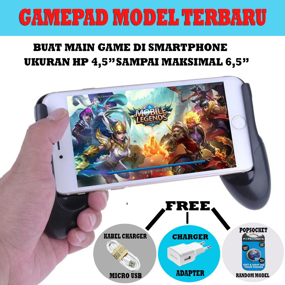 Baseus Gamepad Game Handle Holder Mobile Phone Cooling Support Charge ENO | Shopee Indonesia