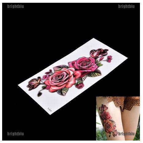 Tattoo Tato Temporer Sementara Wanita Tahan Air Gambar Bunga Mawar