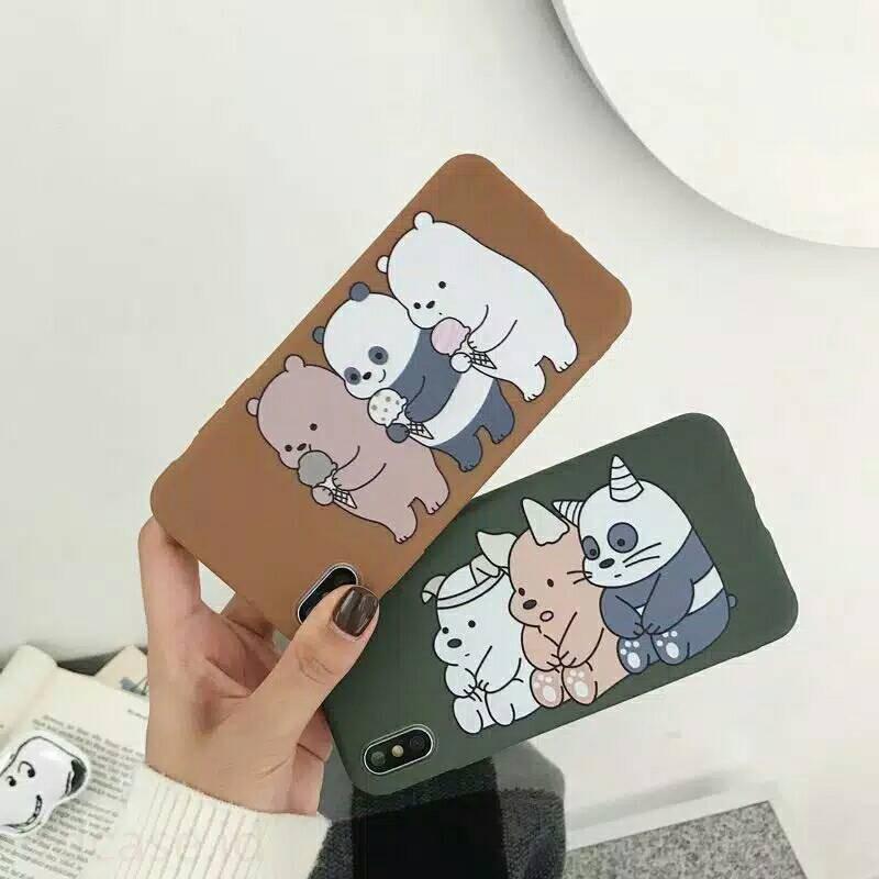 Soft Case Casing Hp Vivo V5 V5s Lite We Bare Bears Bear Panda Hijau Coklat Lucu Imut Cute Beruang Shopee Indonesia