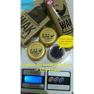 cream krim wak doyok wakdoyok rambut jambang sample jar original 100% READY STOCK!! | Shopee Indonesia