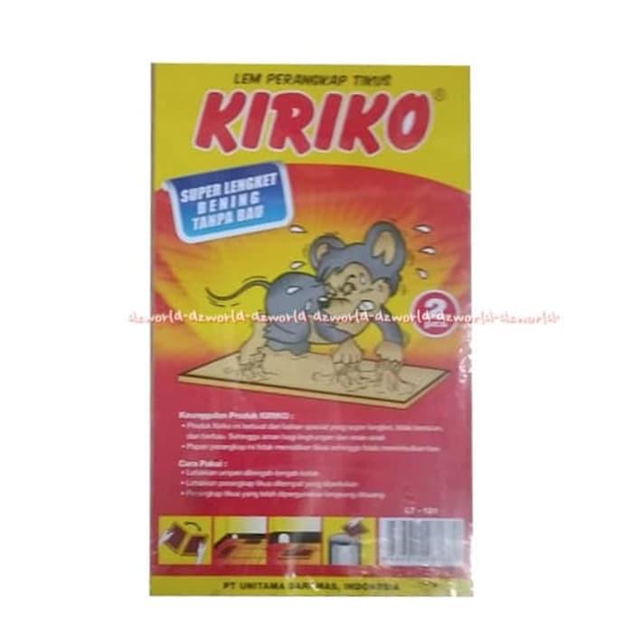 Kiriko Lem Perangkap Tikus Bahan Papan Super Lengket Lem Tikus 2pcs Shopee Indonesia