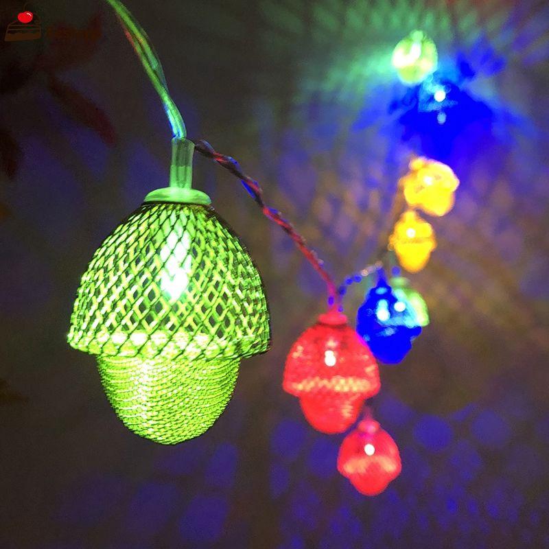 ✨COD✨ Christmas New LED Hazelnut Acorn Light String Party Room Garden Decoration Lantern ✨BEST✨