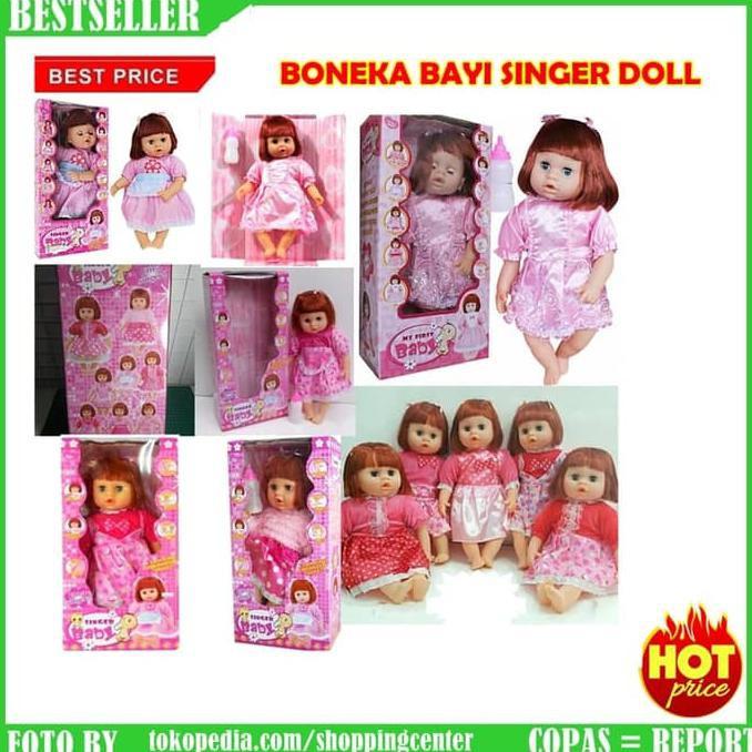 MAINAN CEWEK BONEKA BAYI SUSAN SINGER BABY DOLL WALKING ANISA MELINDA  ddbb14881f