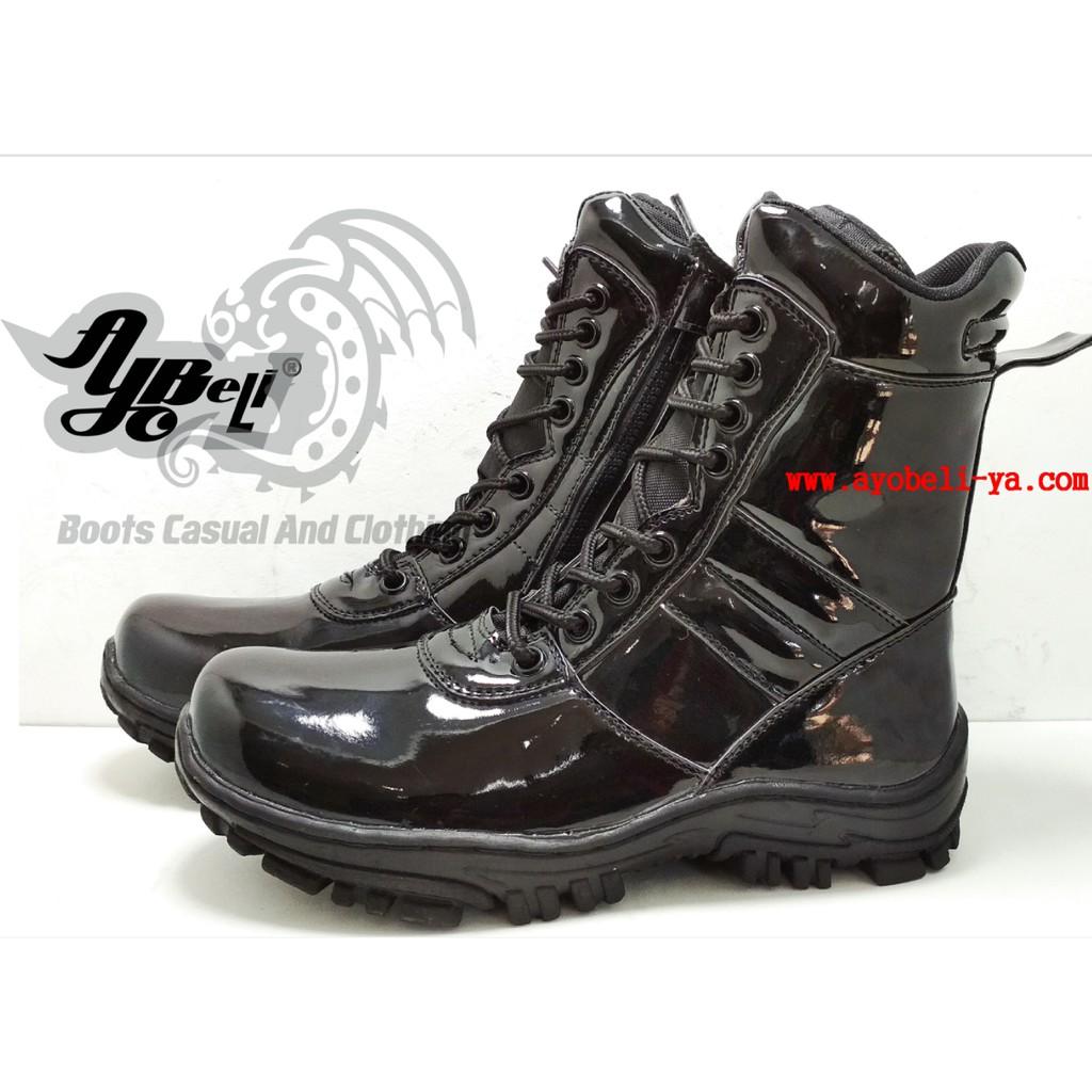 Belanja Online Boots Sepatu Pria Shopee Indonesia Salo Kasual Denim Coklat