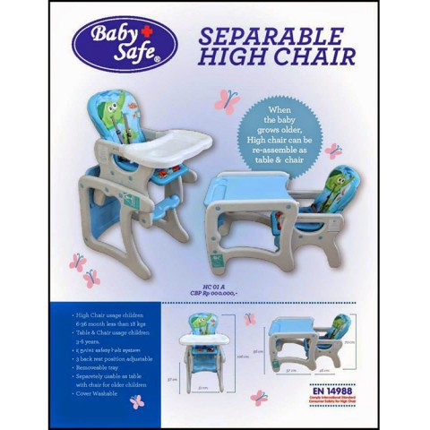 Kursi Makan BAyi - High Chair Baby Safe Separable High Chair Turtle Kursi Makan Anak High Chair Bayi