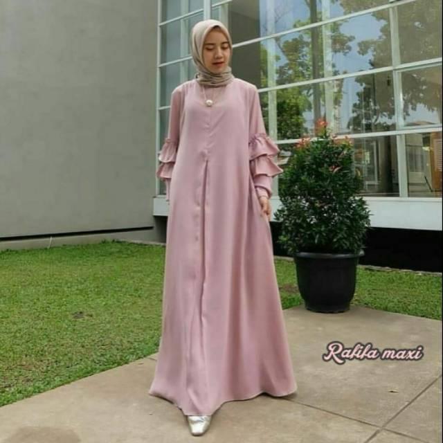 GAUN MUSLIM TERBARU DRESS PESTA MUSLIMAH FASHION MUTIARA BAJU GAMIS MAXI  LIRA UKURAN JUMBO IMPORT  5f51806655