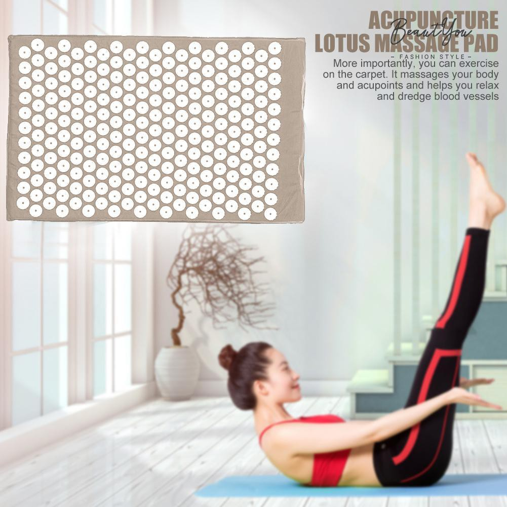 『Beautyou』Spike Yoga Cushion Relieve Body Muscle Pain Acupuncture Massage Mat♥