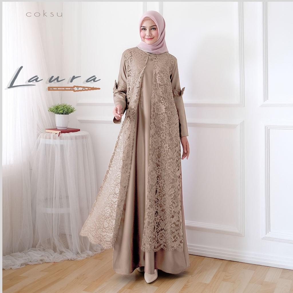 Harga Gamis Brokat Terbaik Fashion Muslim April 2021 Shopee Indonesia