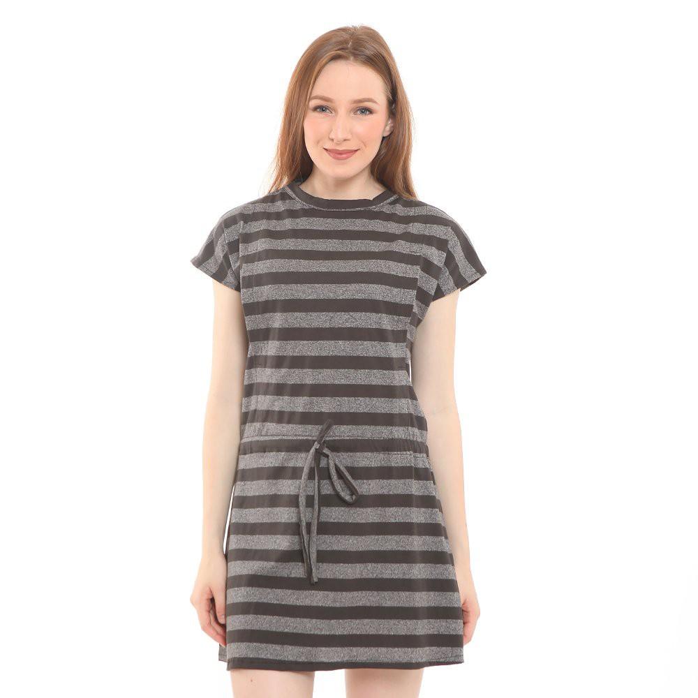 Baju Menyusui Justmom Nina Grey Stripe NN 105