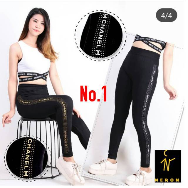 Celana Legging Wanita Gliter Metalik Legging Soft Katun Import Murah Legging Sport Kekinian Shopee Indonesia