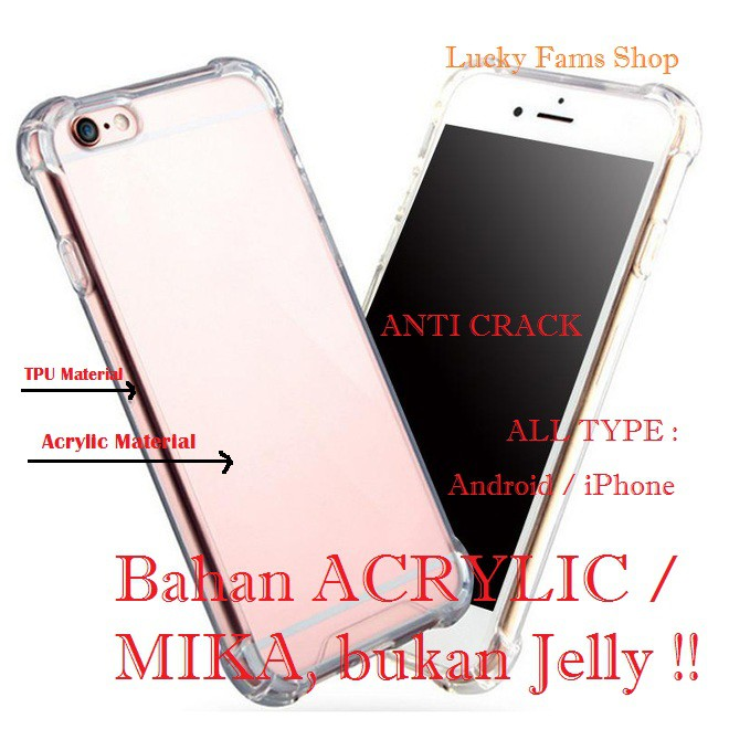 Anticrack Case OPPO F1S F3 F5 A37A39 A57 F7 F9 Antishock Bahan Acrylic | Shopee Indonesia