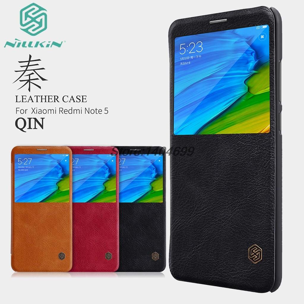 Xiaomi Redmi Note 5 Pro Flip Case Xiaomi Redmi Note 5 Case Nillkin Qin Series PU