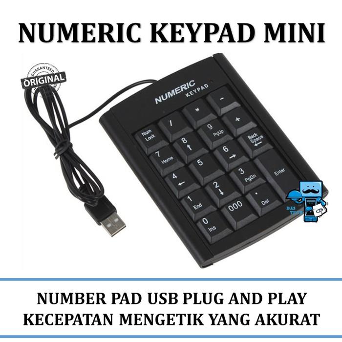 New USB Mini 18-keys Num Pad Numeric Number Keypad Keyboard for Laptop Note   Shopee Indonesia