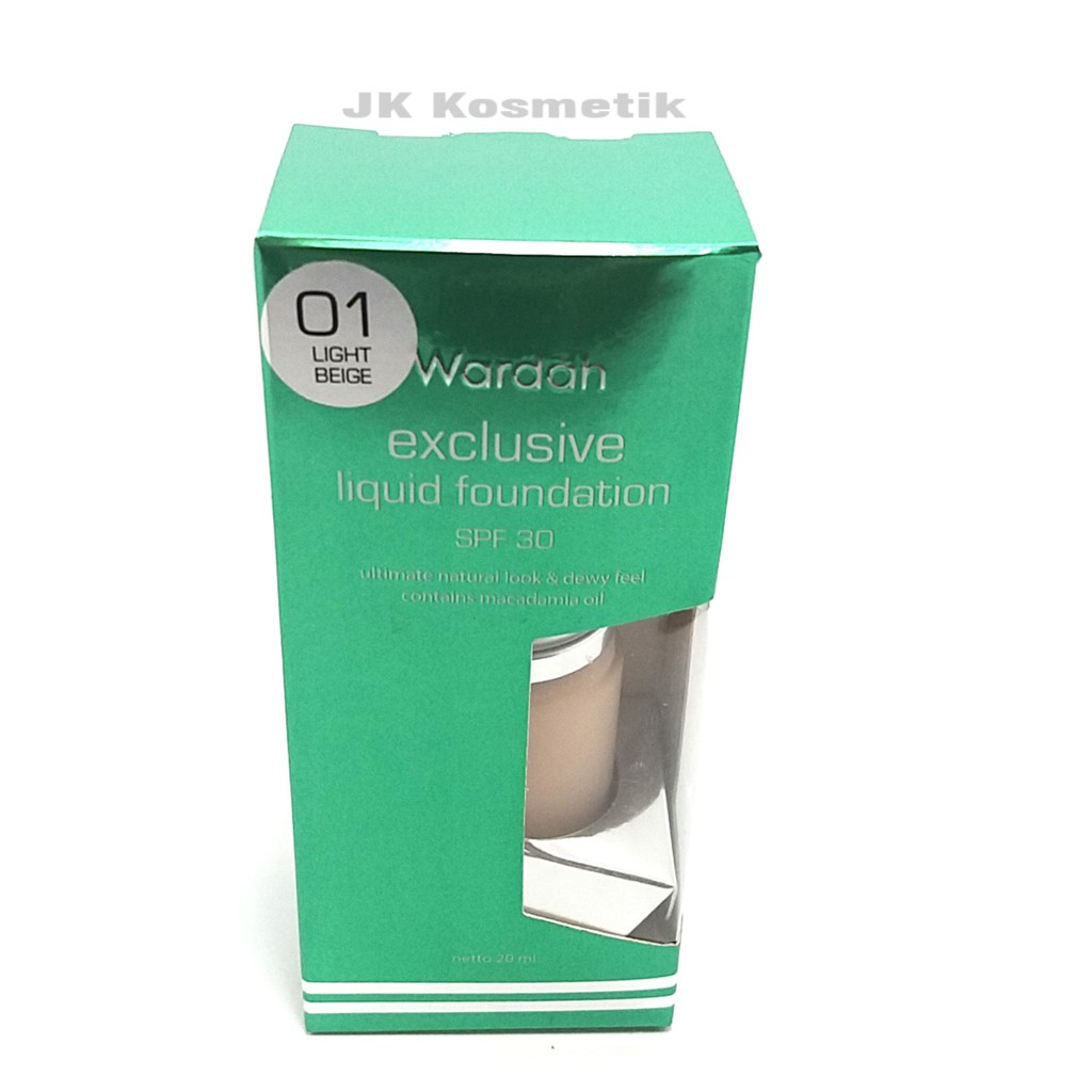 Wardah EXCLUSIVE Liquid Foundation 01 Light Beige 20 ml -