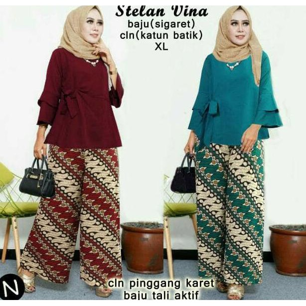 Dapatkan Harga setelan batik Atasan Kebaya Fashion Muslim Pakaian Wanita  Diskon  cb6a5d715e