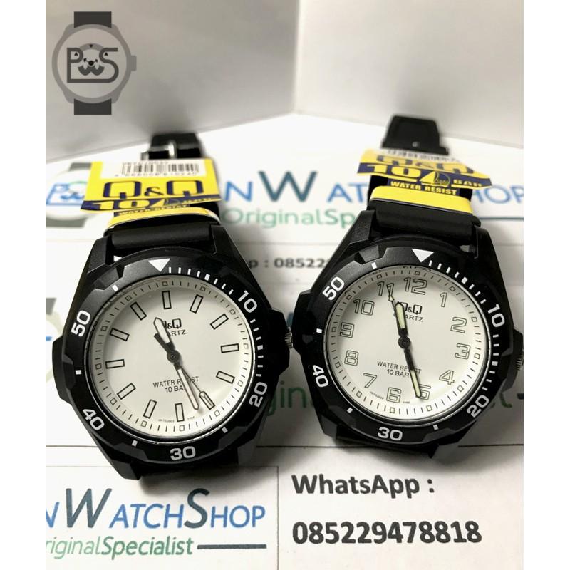 Jam Tangan Q Q Original Pria Analog Water Resist 10 Bar Diameter 4cm Rubber Strap Vr70 Shopee Indonesia