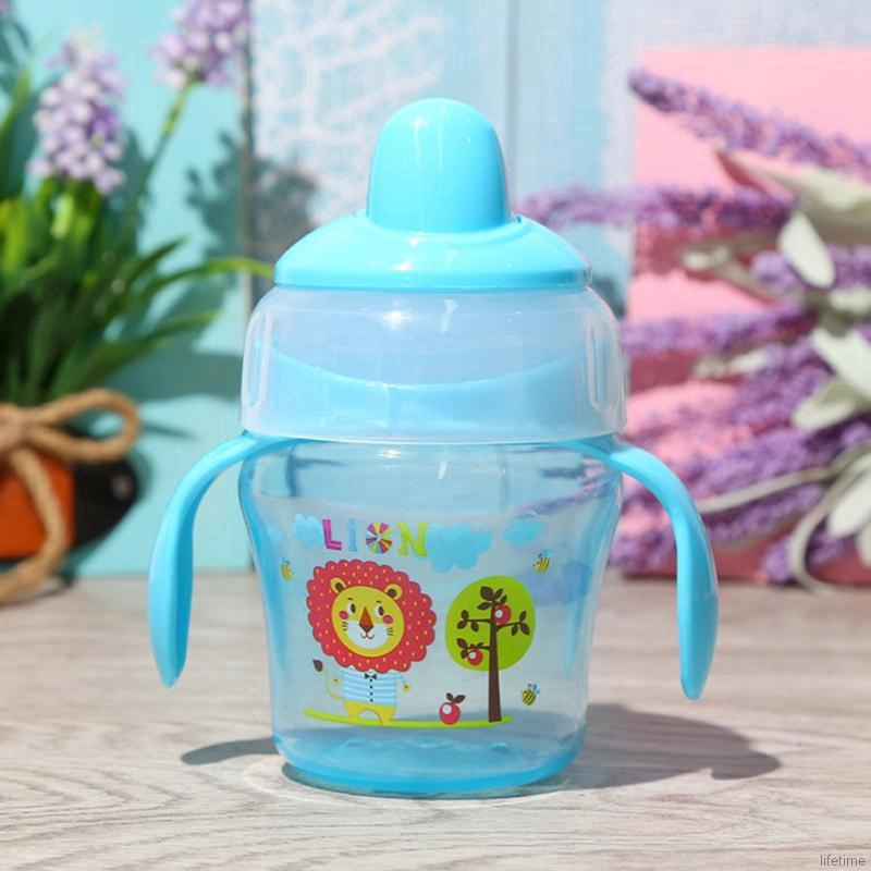 Botol Air Minum 120ml Motif Kartun Bebek Untuk Latihan Makan Bayi