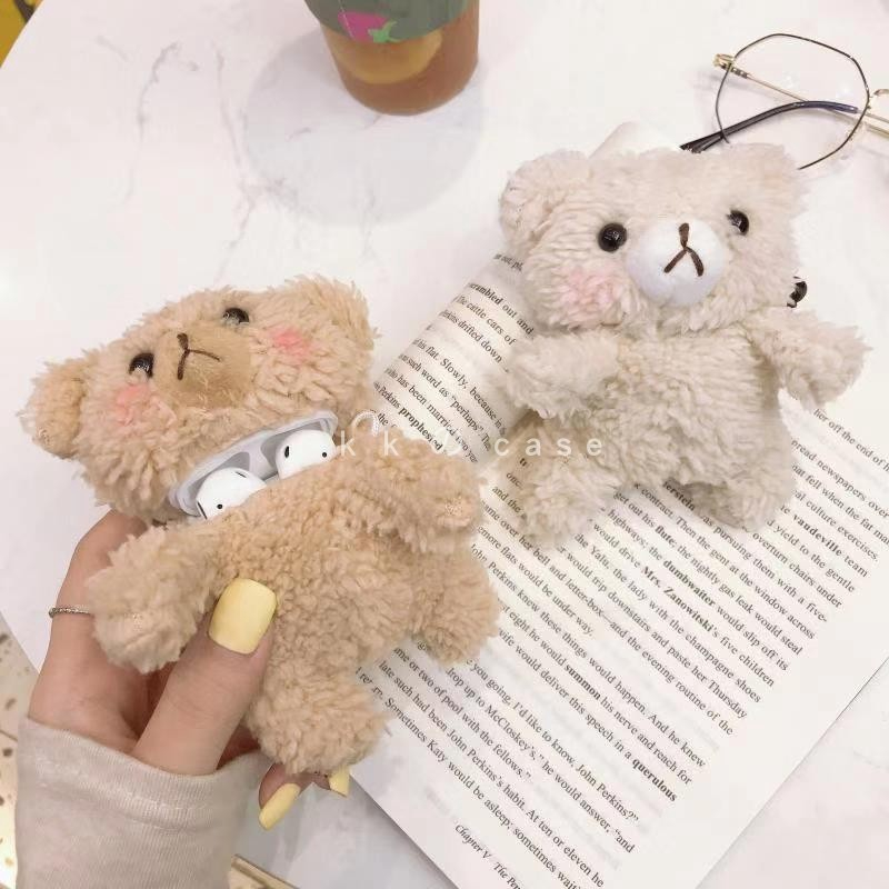 New Arrival Case Silikon Airpods 1 2 Boneka Beruang Teddy Bear Lucu Soft Cover Aesthetic Korean Style Simple And Classy Shopee Indonesia