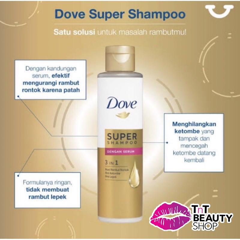 Dove 3 in 1 Super Shampoo Serum 125ml / Shampo Plus Serum Vitamin 125 ml-1