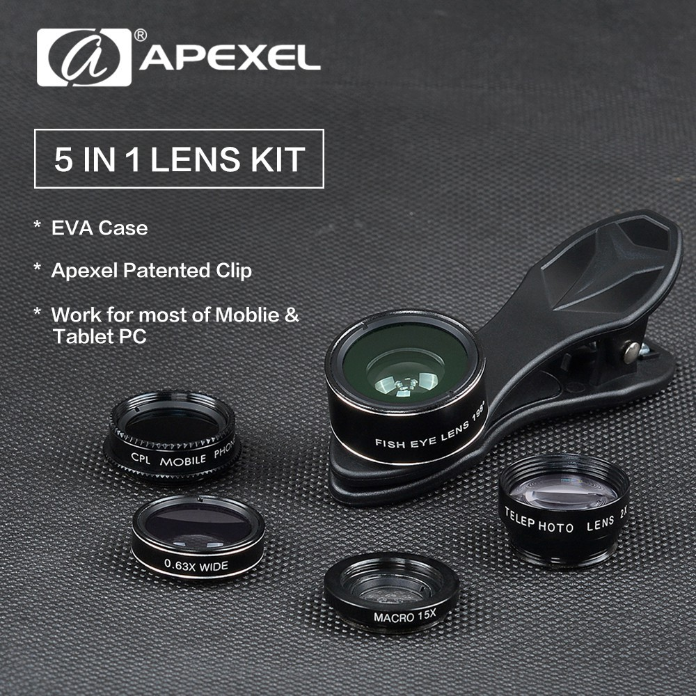 15in1 Phone Lens Kit 12x Zoom Telephoto Lentes Fish Eye Wide Angle Universal Clip Good Product Macrowidefisheye Hitam Macro Lenses Selfie Flash Light Shopee Indonesia
