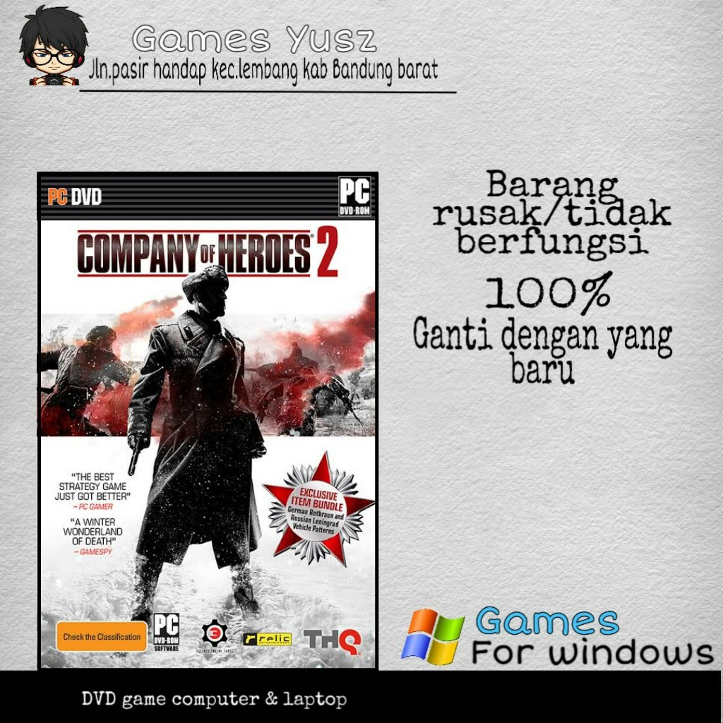 Company Of Heroes 2 Master Collection Pc Games Dvd Game Laptop Game Pc Shopee Indonesia