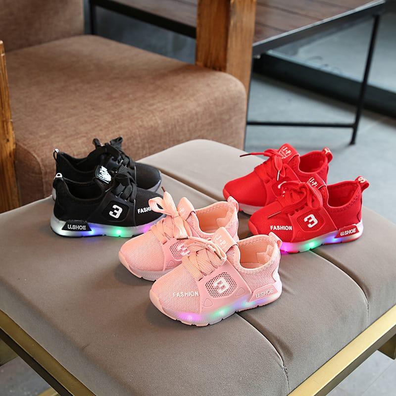 Sepatu Fashion Led Anak Anak Size 24 Umur 3 Tahun Shopee Indonesia