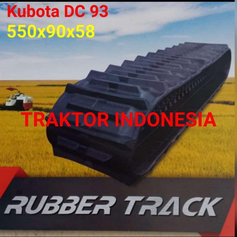 Crawler Track Rubber Track Combine Harvester Kubota DC 93