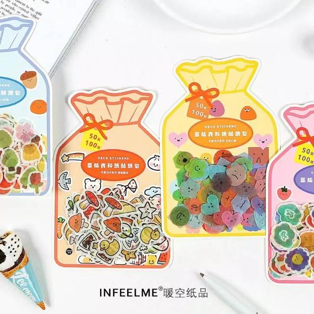 100pcs sticker washi deco