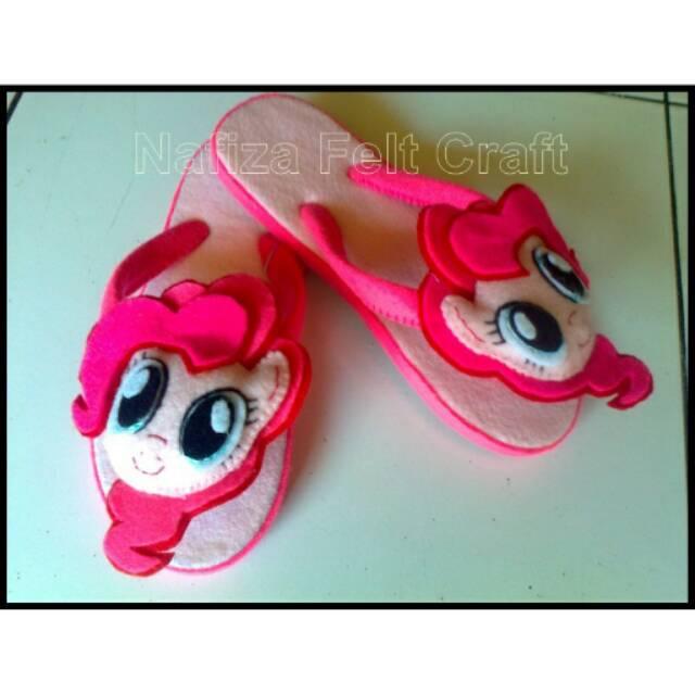 Sandal Flanel Anak Karakter Little Pony Pinky Pie Kuda Poni Lucu Imut Shopee Indonesia
