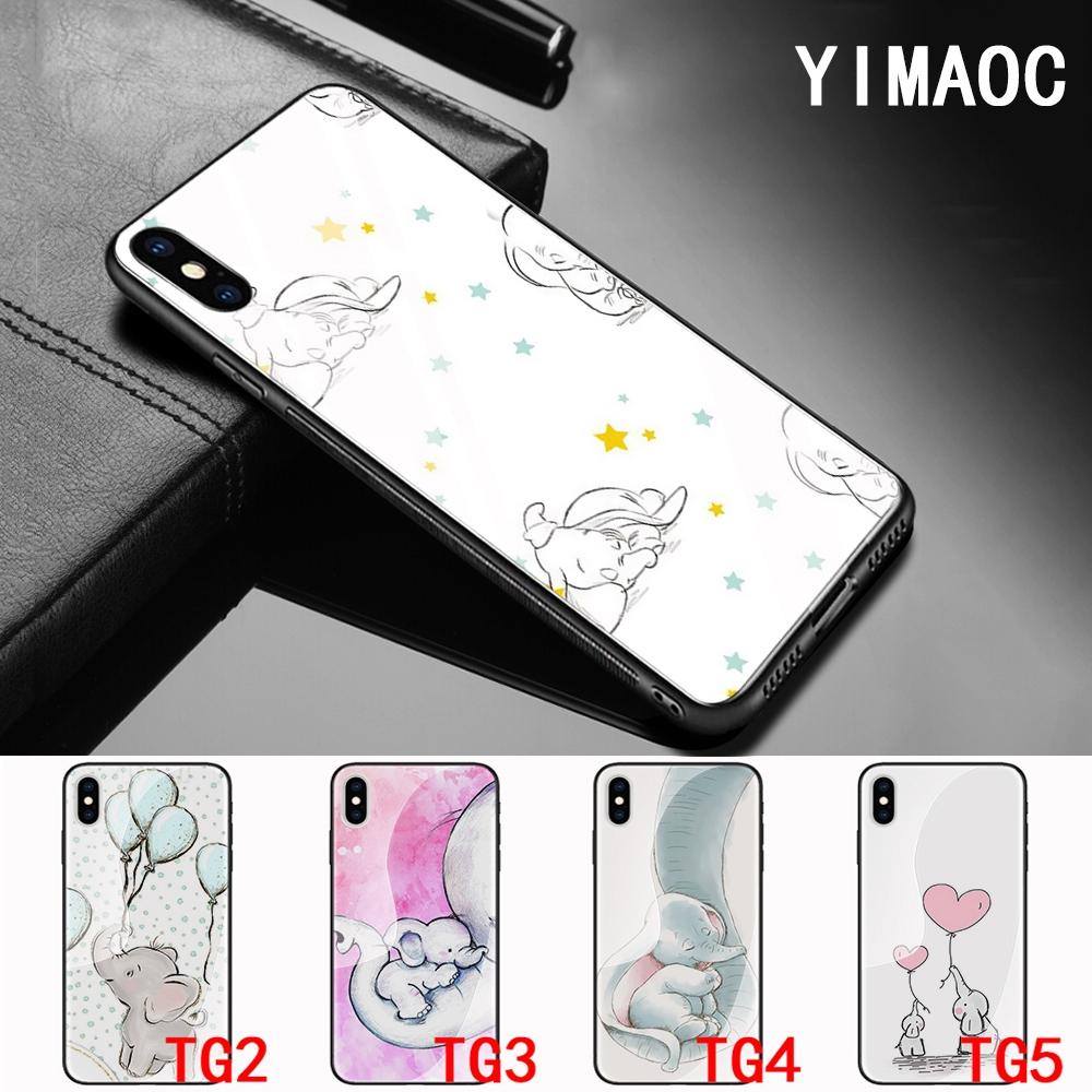 Casing Belakang Desain Kartun Gajah Lucu Untuk IPhone 6 6S 6 Plus 6S Plus 7 7 Plus 8 8 Plus X