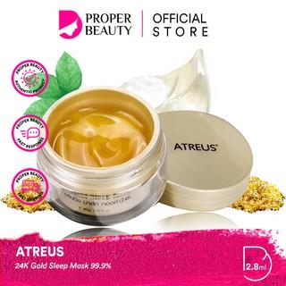 ATREUS 24K Gold Sleep Mask 99.9% Thailand Masker Mata Perawatan Skincare thumbnail