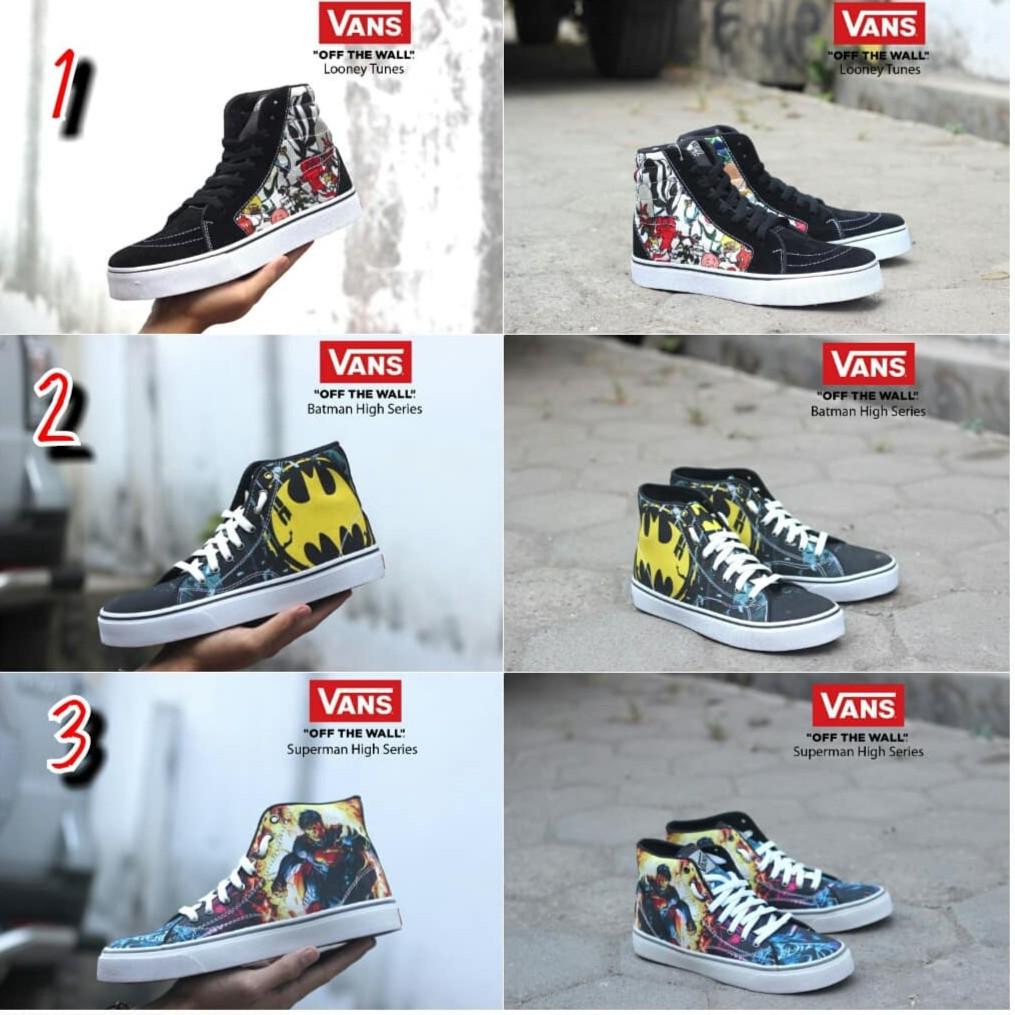 Sepatu VANS Pria Supreme Murah Santai Gaya MOTIF SK8 HIGH TERBARU WAFFLE DT ICC IFF   Shopee Indonesia