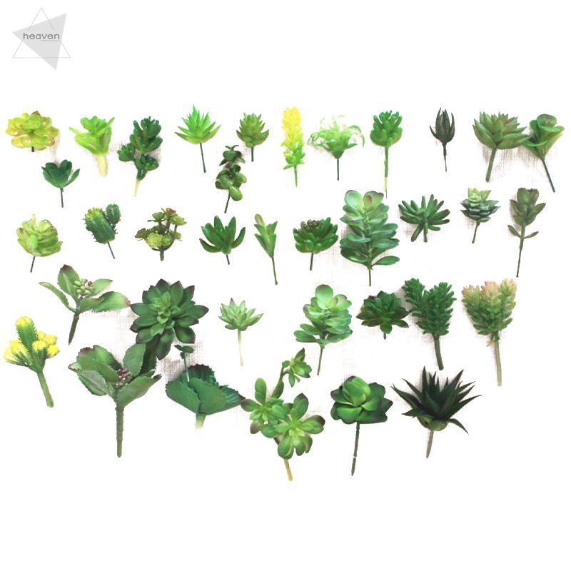 Artificial Succulents Plastic Plant Fake Cactus Floral Garden Home Office Decor