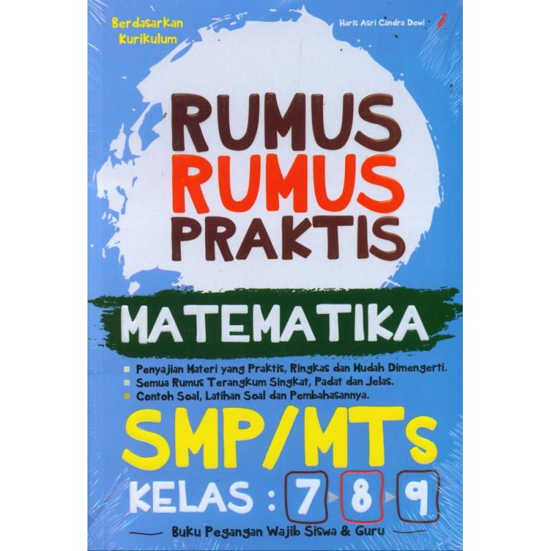 Rumus Rumus Praktis Matematika Smp Mts Kelas 7 8 9 Shopee Indonesia