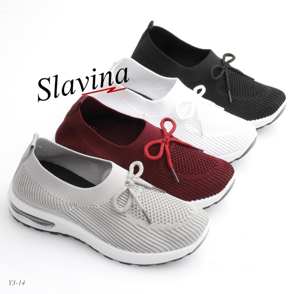 Sepatu Slavina Slip On Flyknit Lined Ribbon Original Y3 14