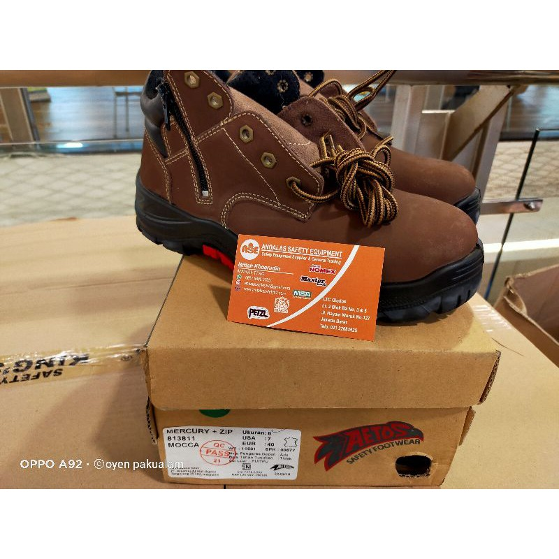 SEPATU SAFETY AETOS MERCURY ZIP